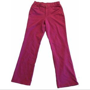 Denim and Co. Flared Stretched Pants Magenta 10T